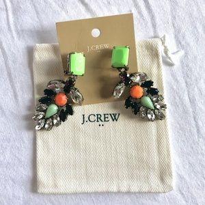 JCrew Square Neon Drop Earrings